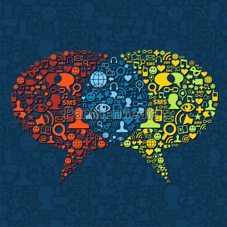 social media interazione nuvoletta