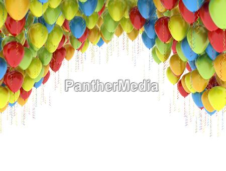 palloncini colorati festa di compleanno