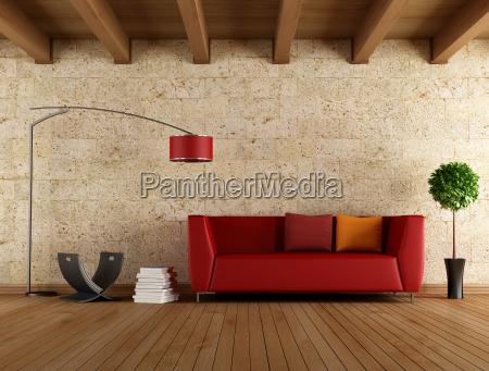 arredamento pietra sasso interno annata divano