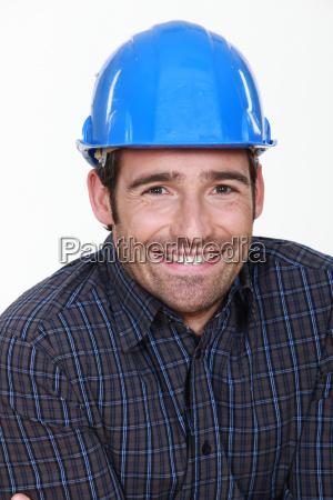 happy manual worker