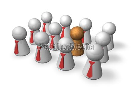 cravatta azienda gruppo societa estraneo borghese