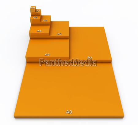 stampa formato carta pittogramma icona