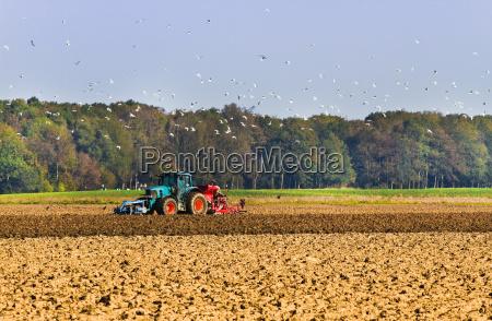agricoltura plough il campo con