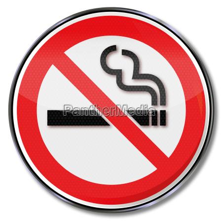 divieto di fumo del segno di