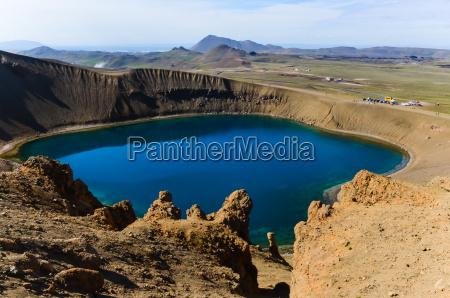 viti cratere nel krafla area vulcanica