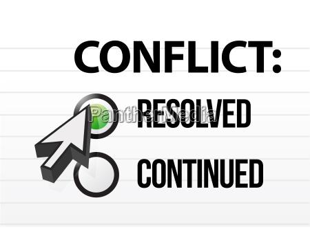 conflitto battaglia guerra parola illustrazione voto