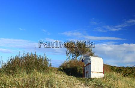 beach chair on the north sea
