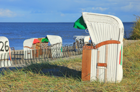 beach chairs in the sand dunes