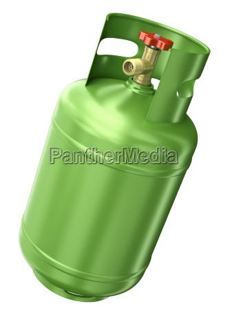 contenitore di gas verde