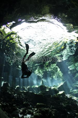 viaggio viaggiare grotta sottacqua avventura messico