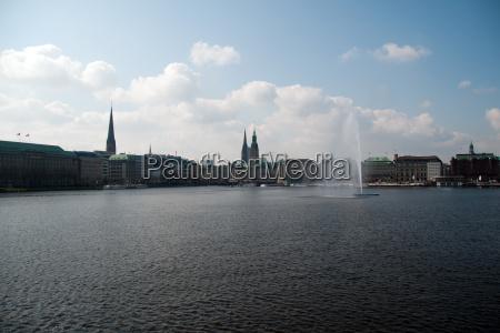 torre chiesa primavera fontana amburgo municipio