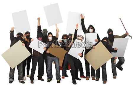 gruppo di manifestanti