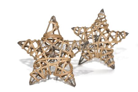 due stelle intrecciato come decorazione di