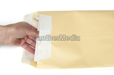 hand that open a letter from