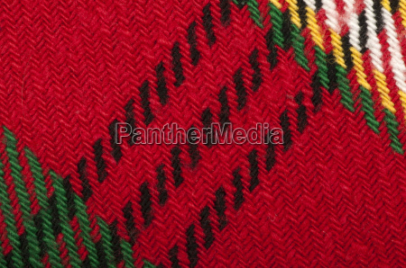 handmade knit green and red background