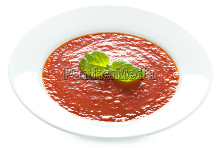 tomato soup isolated on white
