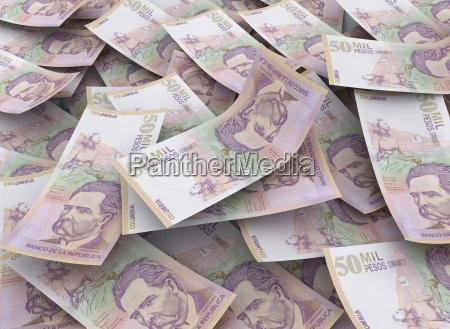 50000 pesos colombiani concetto finanziario