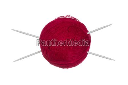 lana filo ago filato maglieria rosso