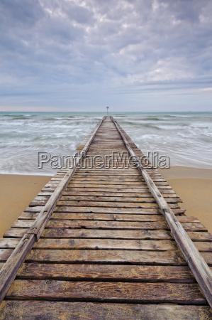 riva del mare spiaggia ponte direzione