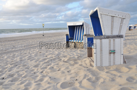 two beach chairs in westerland sylt