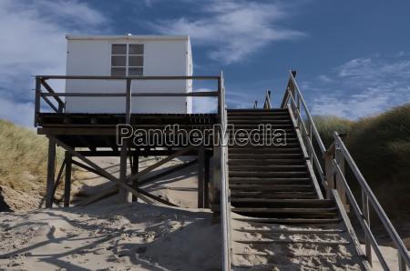strandwaerterhaeuschen on the beach of sylt
