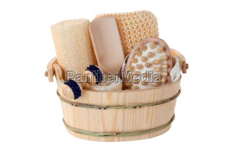 spazzola la cura del corpo massaggio