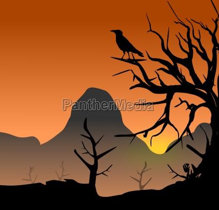 tree with raven mythology