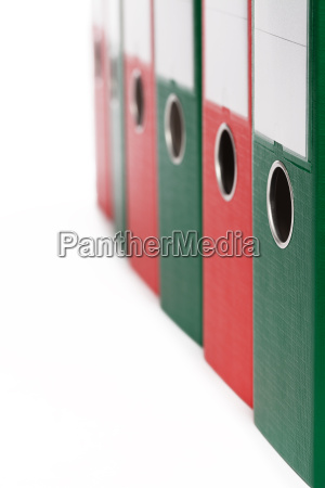 close up of ring binders