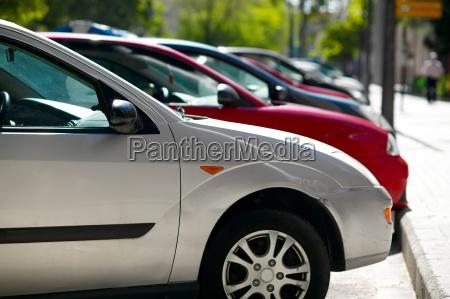 dettaglio primo piano parco auto veicolo