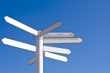 caucasico bianco vuoto direzione inabitato cartello