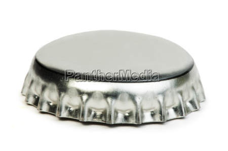 beer cap white isolated studio shot