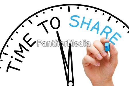 tempo per condividere