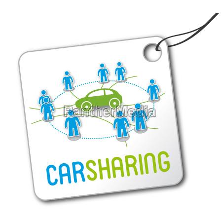 etichetta logo car sharing