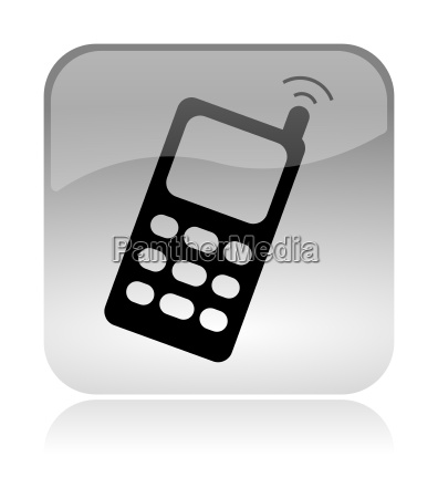 cellular mobile phone web interface icon