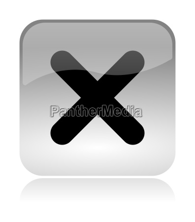 cross uncheck web interface icon