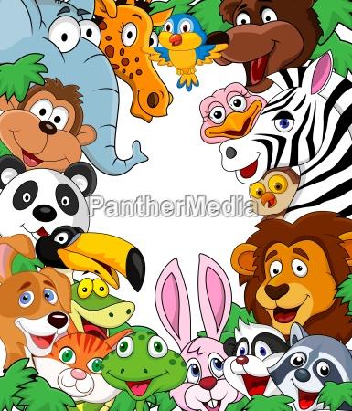sfondo di cartone animato animal