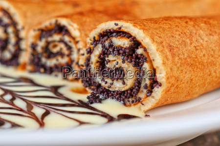 pancakes con semi di papavero