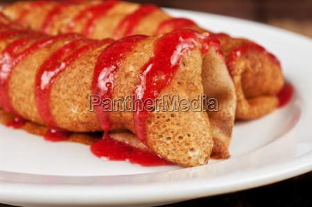 cibo pane dolce colore primo piano