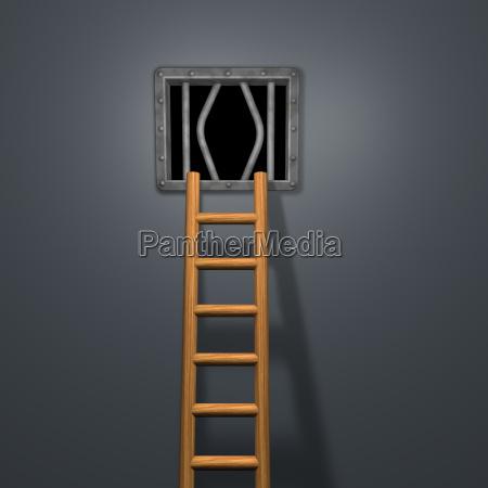 galera carcere metallo rivetto fuga finestra