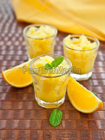 casalinga fresca granita di arancia