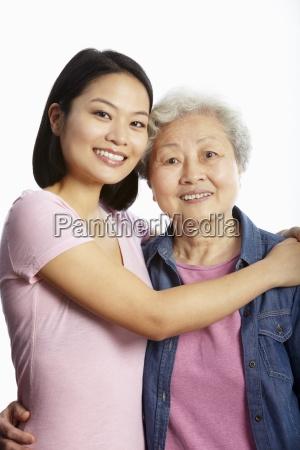ritratto dello studio della madre cinese