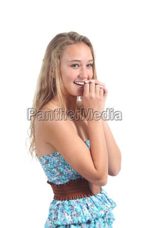 adolescente ragazzo ragazza timido scioccato teenager