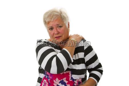 donna anziano dolore malattia pensionato