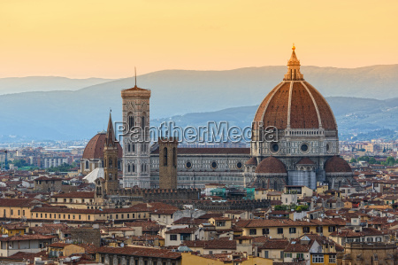 cattedrale toscana sguardo vista firenze italia
