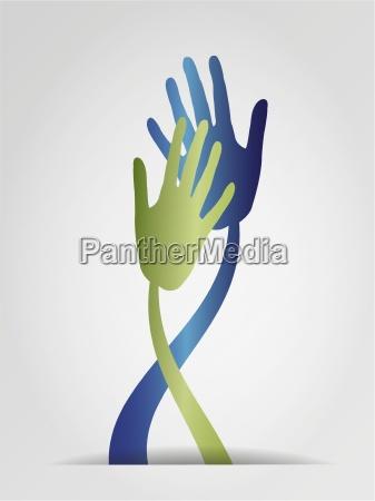 mano mani grafico illustrazione contatto toccare