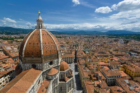sopra cattedrale sguardo vista tetti firenze