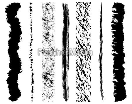set di inchiostro grunge pennellate eps