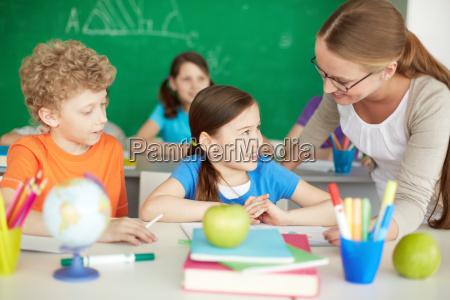 parlando con insegnante