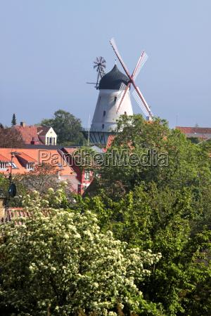 windmill in gudhjem on bornholm