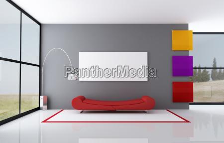 colorato salotto minimalista